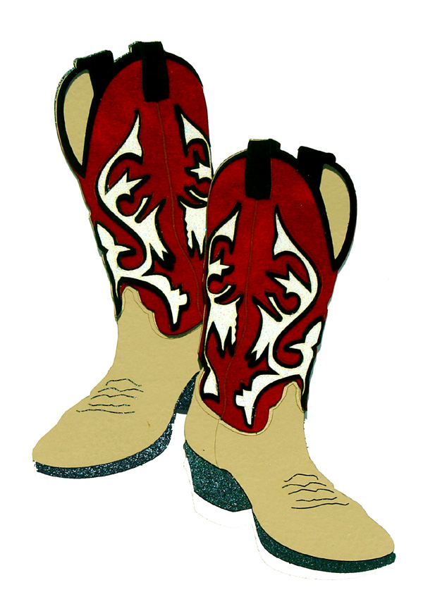 Dancing cowboy boots clipart collection.