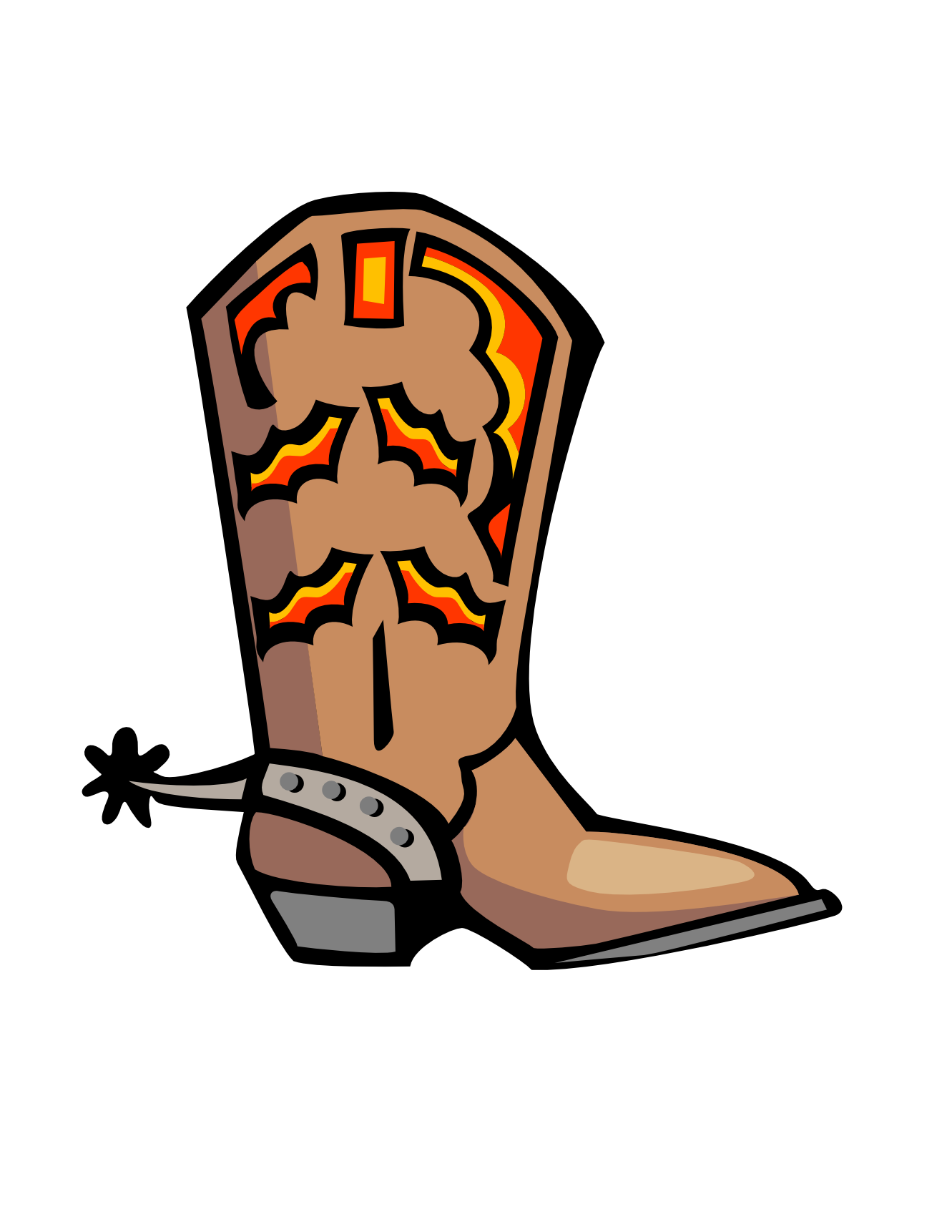 Cartoon Cowboy Boots Clip Art N12 free image.