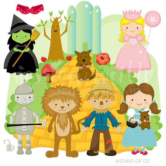 Wizard of Oz Cute Digital Clipart for Commercial or Personal Use.