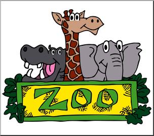 Clip Art: Zoo Graphic Color 1 I abcteach.com.