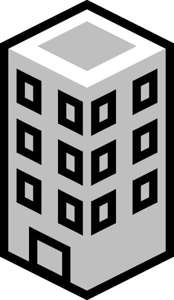 Office Building Gray Clip Art At Clker.com Vector Clip.