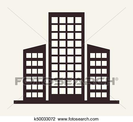 Office building icon Clipart.