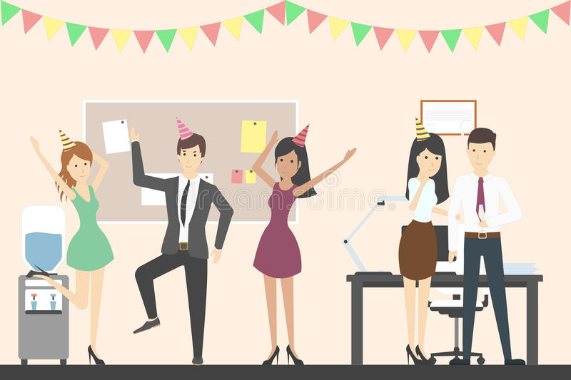 Office Party Stock Illustrations.