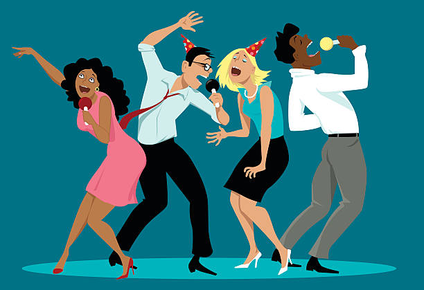 Best Office Party Illustrations, Royalty.