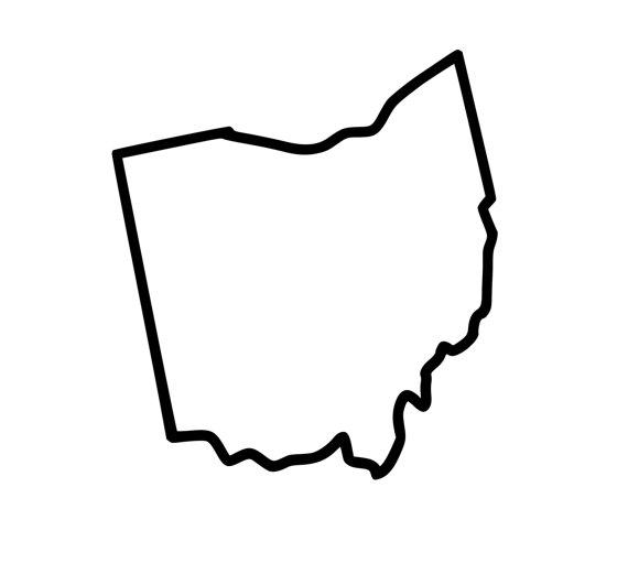 Outline Of Ohio.