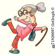Old Lady Clip Art.