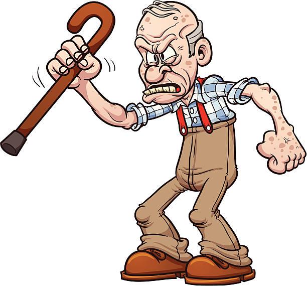 Best Grumpy Old Man Illustrations, Royalty.
