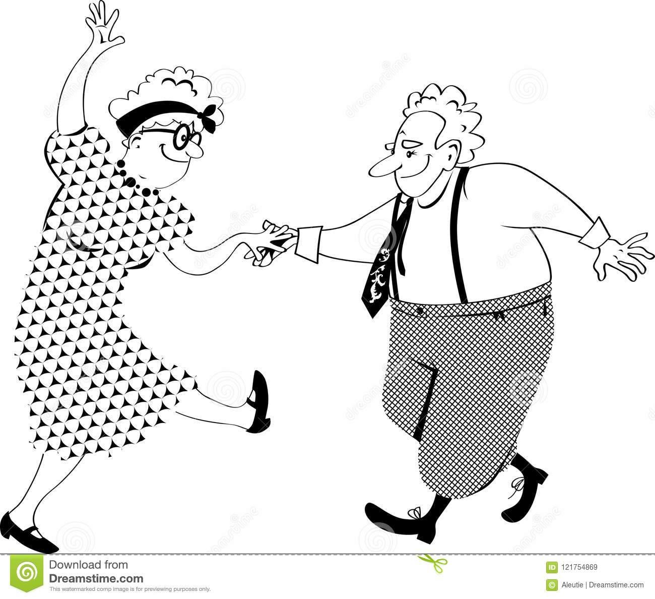 Dancing Old People Clip.
