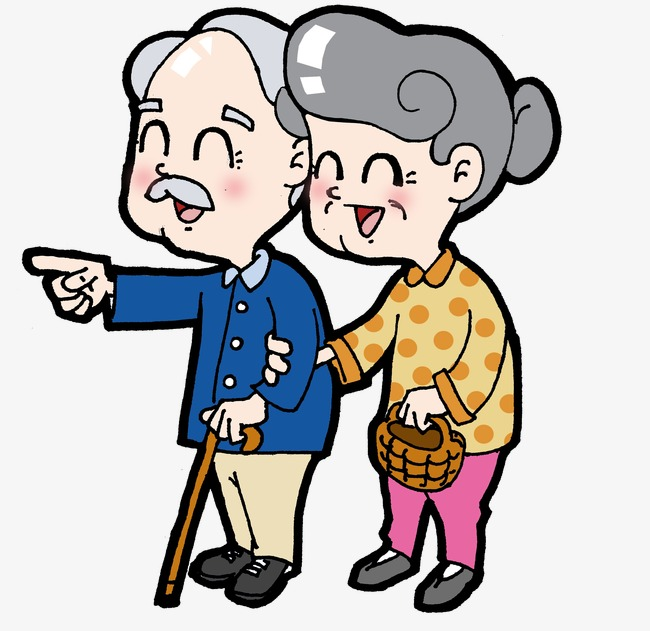 Old People Clipart Cartoon Elderly PNG Image And Simpleminimalist.