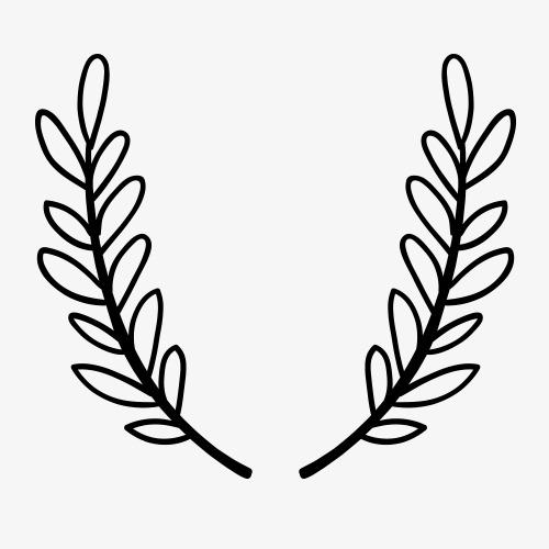 Signet Decorative Patterns Material Olive Branch Pattern Badge.