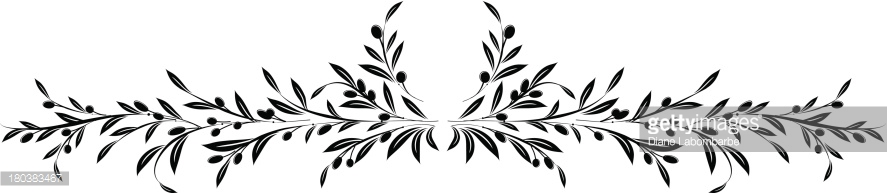 Olives Branch Border Vector Art.