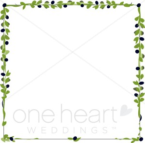 Olive Branch Borders Clipart.