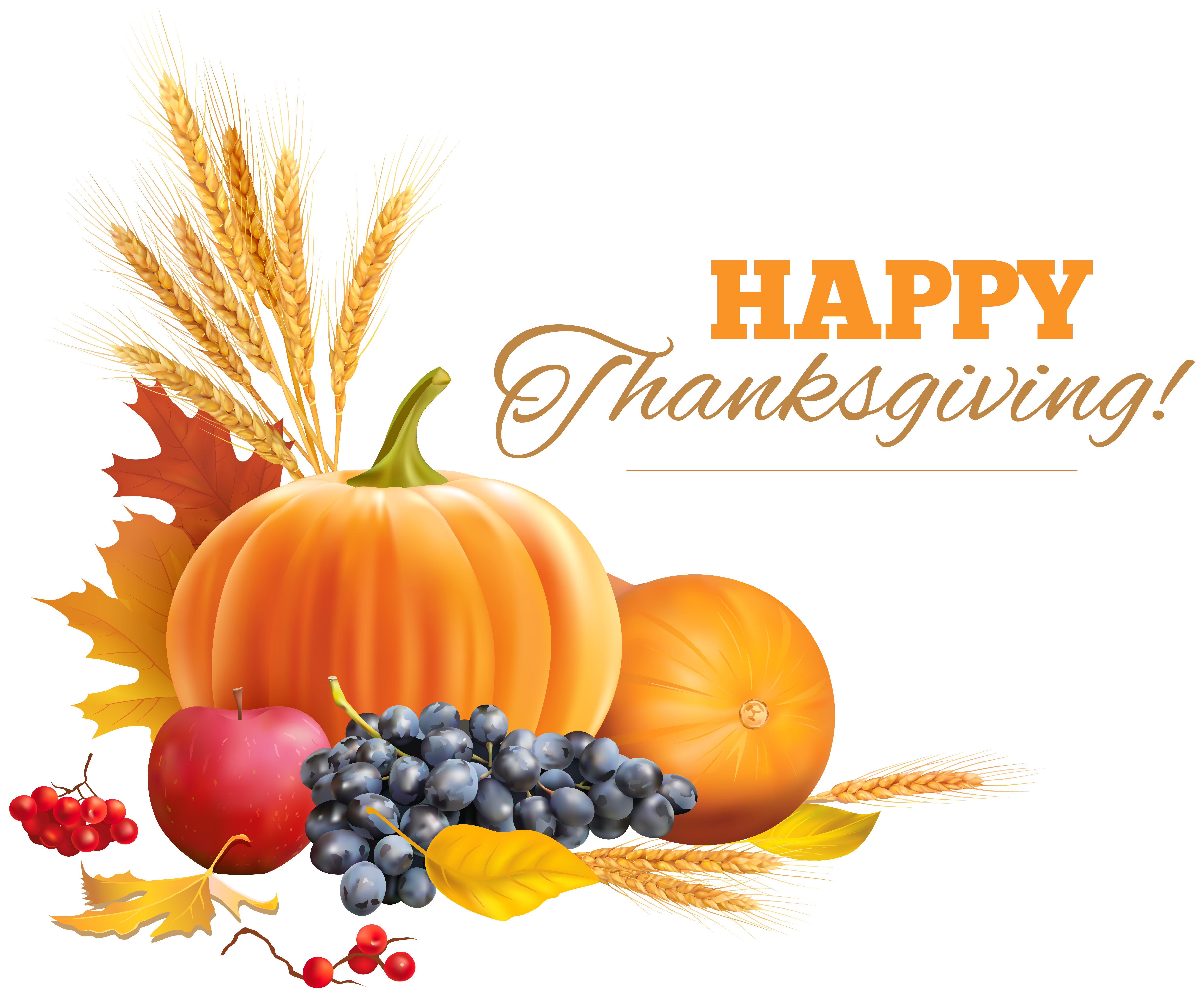 Free Thanksgiving Png Clipart Pictures.