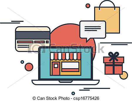 Vector Illustration of Online shopping flat illustration concept.