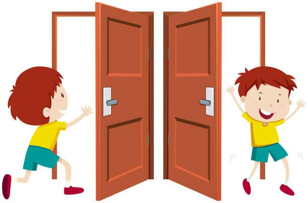 Best Boy Open Door Illustrations, Royalty.