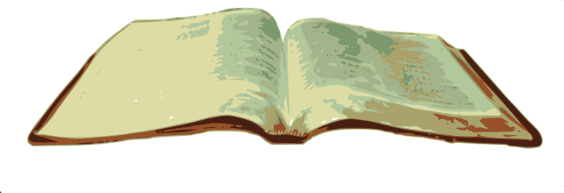 Free Clipart: Open Bible.
