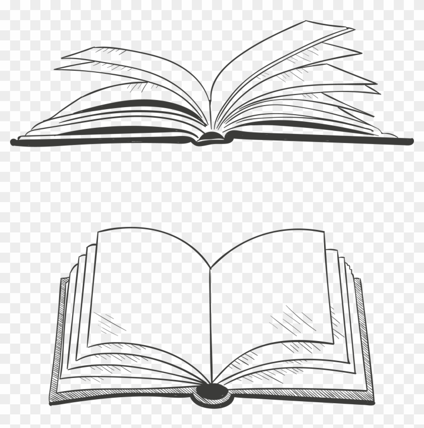 Graphics Scalable Vector Artwork Open Book Clipart.