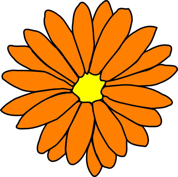 Orange Flower Clip Art at Clker.com.