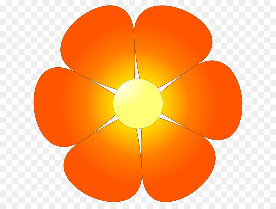 Orange flower clipart » Clipart Station.