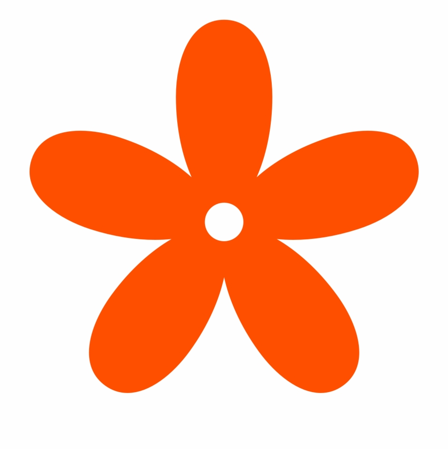 Orange Flower Clipart.