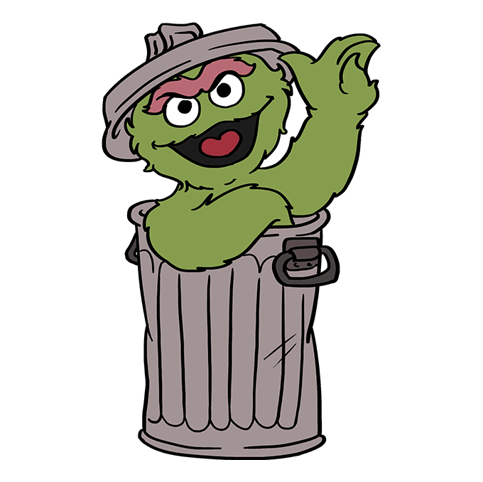 Oscar The Grouch Drawing.