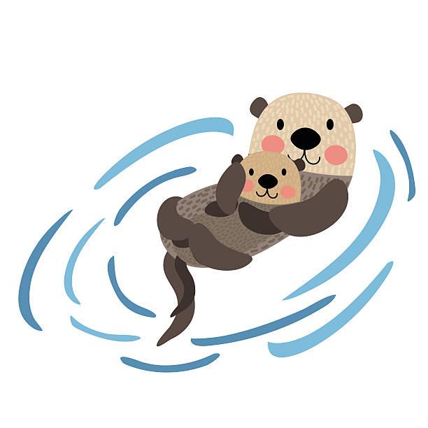 Best Otter Illustrations, Royalty.