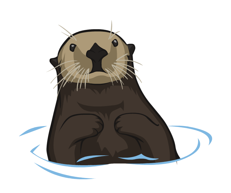 Otter PNG Clipart.