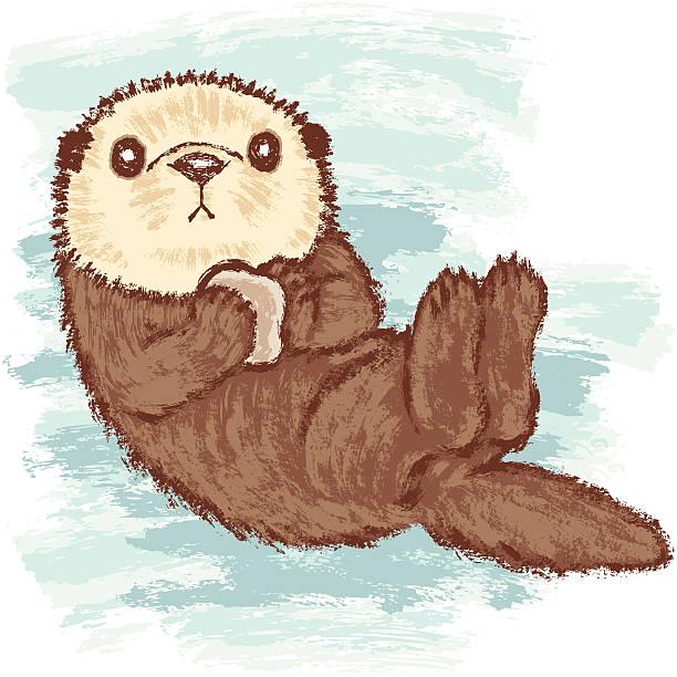 Best Sea Otter Illustrations, Royalty.