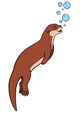238 River Otter Cliparts, Stock Vector And Royalty Free River Otter.