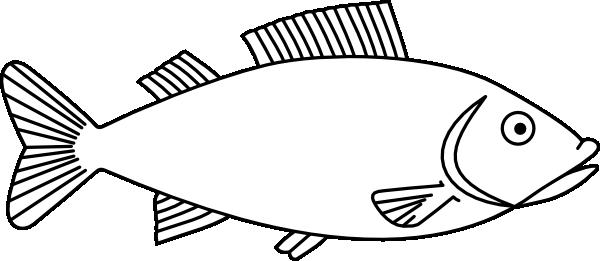 Easy long Fish Drawings.