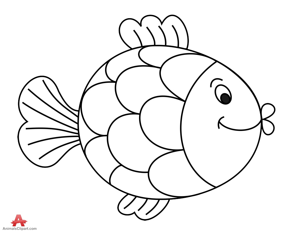 Fish outline comic outline of fish free clipart clipartfest.