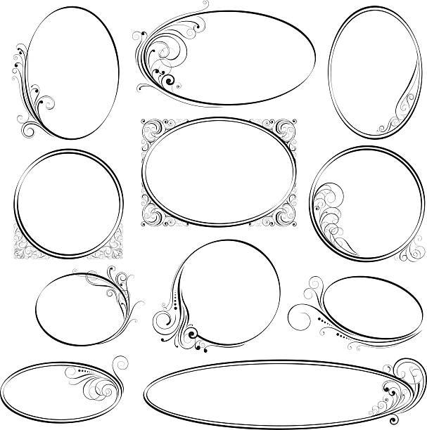 Best Oval Shape Illustrations, Royalty.