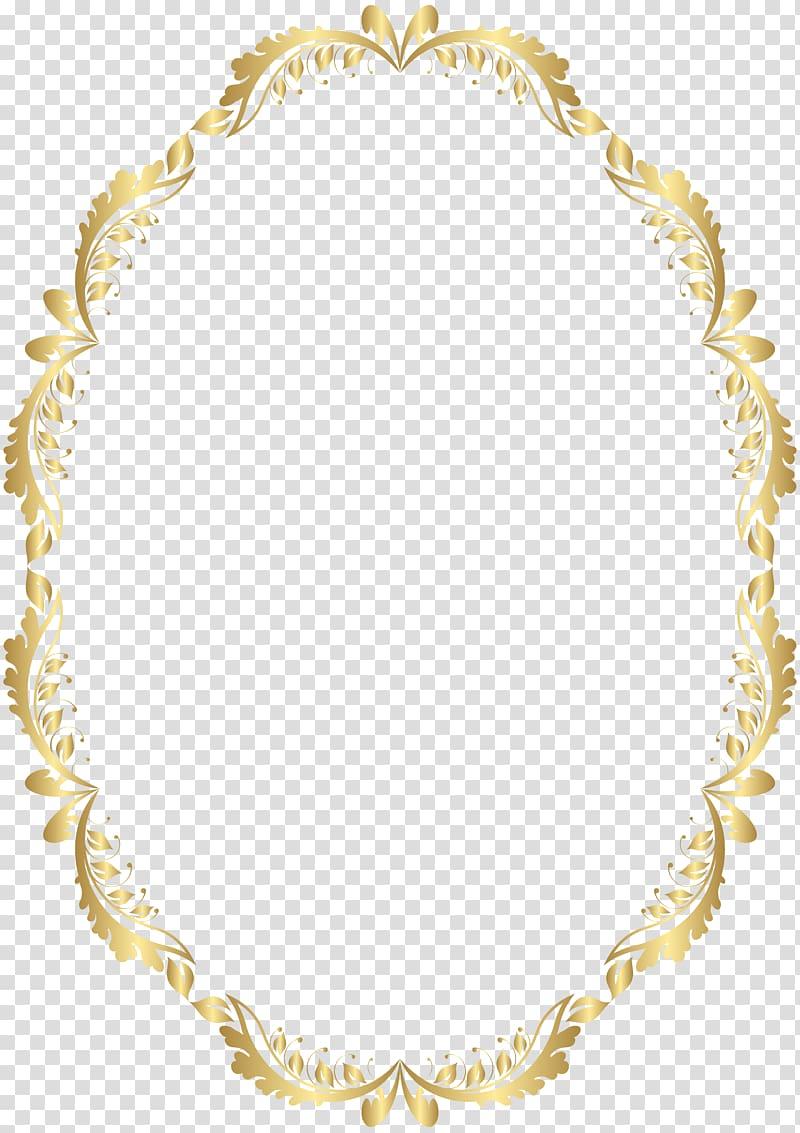 Frame , Golden Oval Border , oblong brown floral frame illustration.