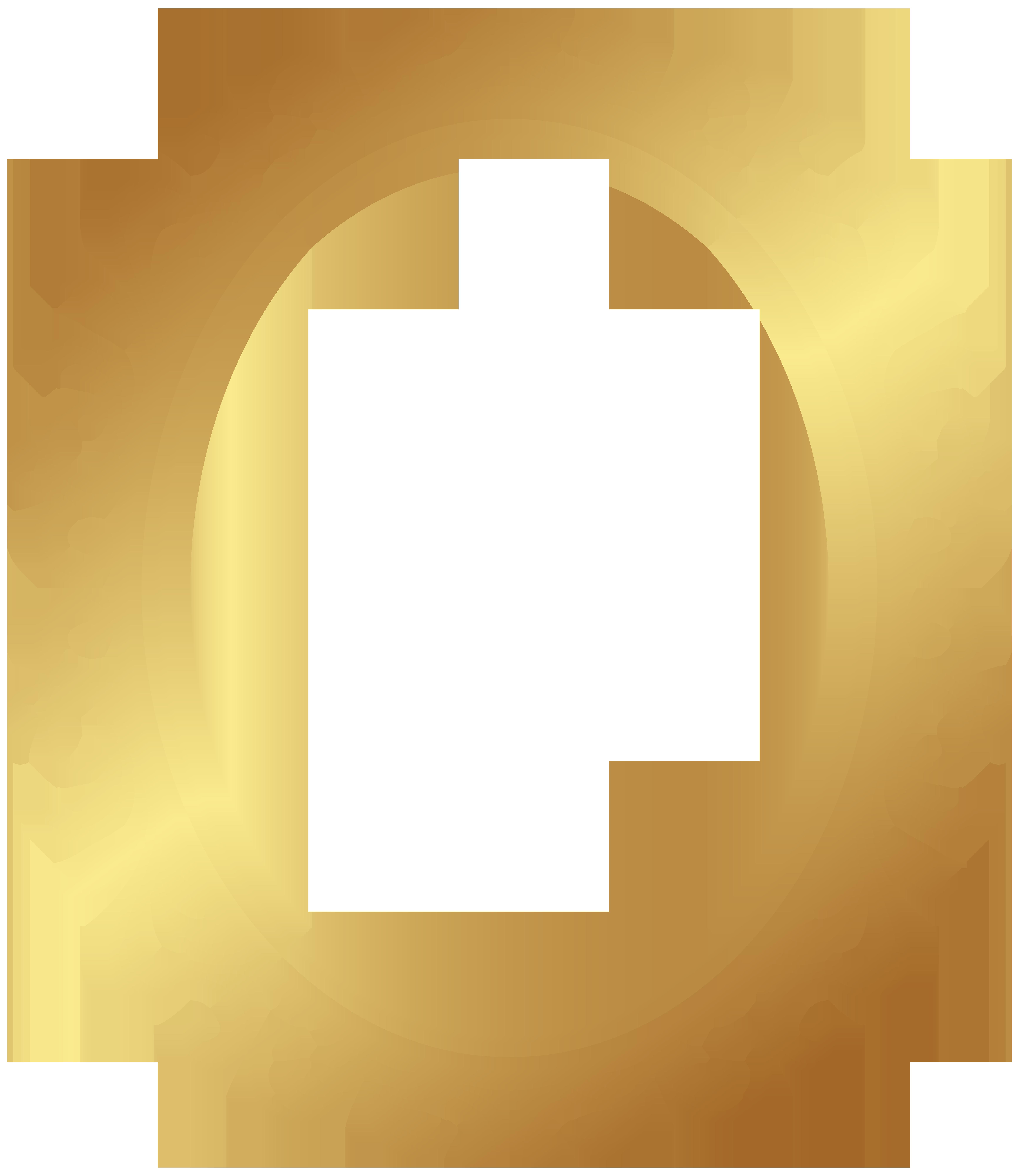 Oval Border Deco Frame PNG Clip Art.