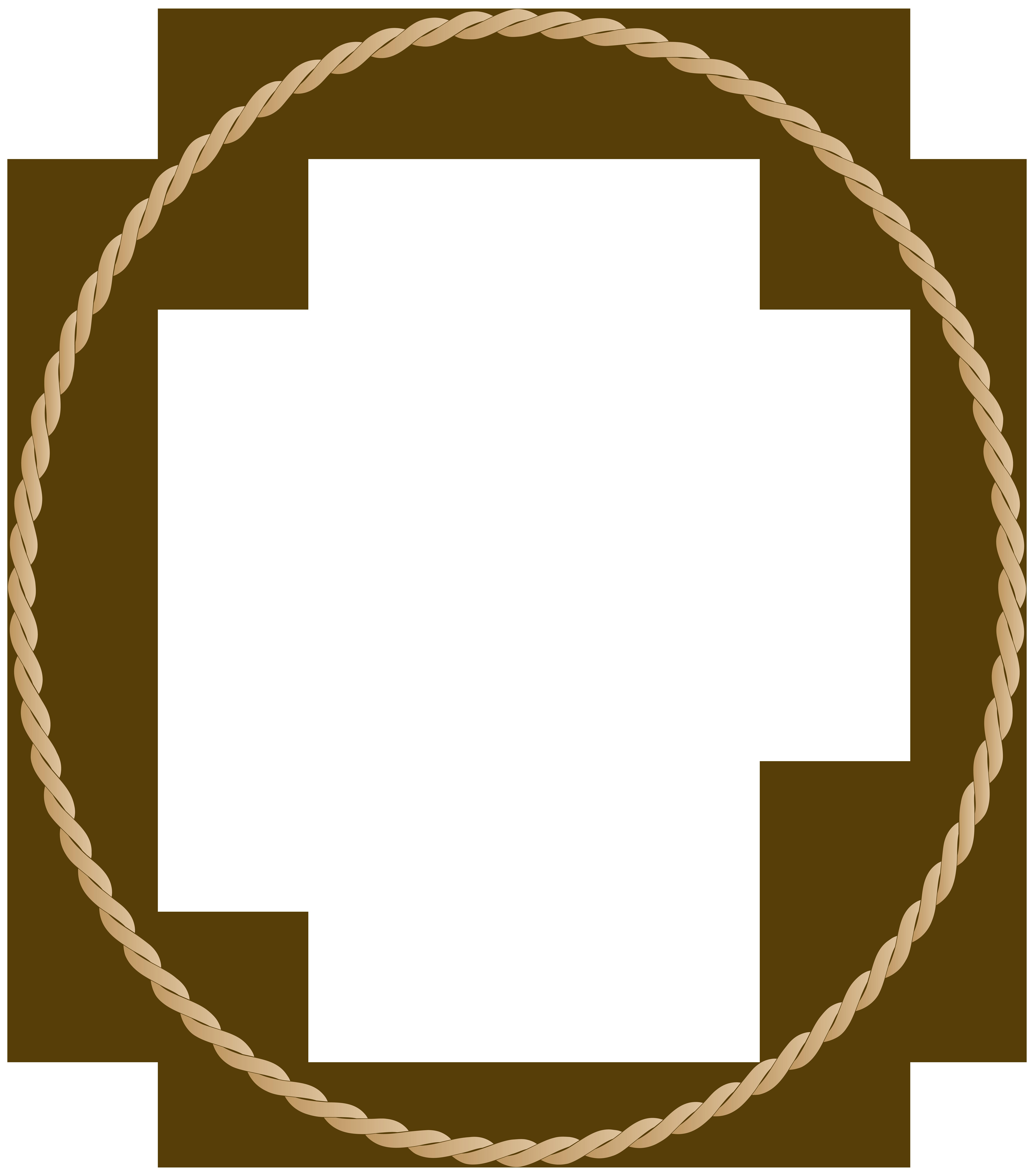Oval Border Frame PNG Clip Art Image.