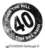 Over The Hill Clip Art.