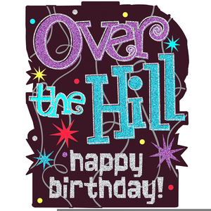 Free Over The Hill Birthday Clipart.