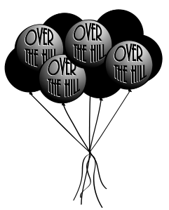 45+ Over The Hill Clip Art.