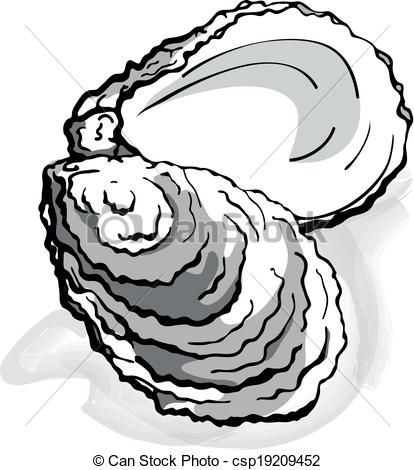 28+ Collection of Oyster Shell Clipart.