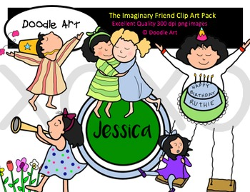 The Imaginary Friend Clipart Pack.