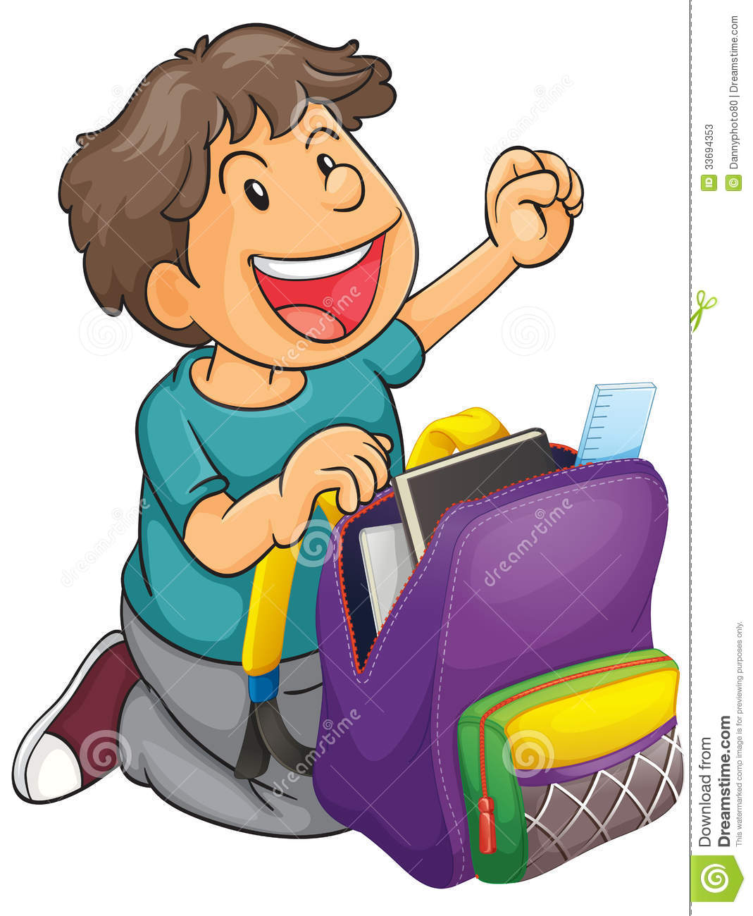 School Back Bag Clipart.
