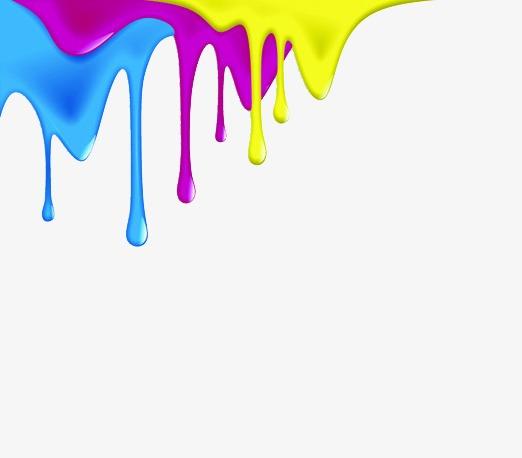 Flowing Paint, Paint Clipart, Paint, Makeup PNG Transparent Image.