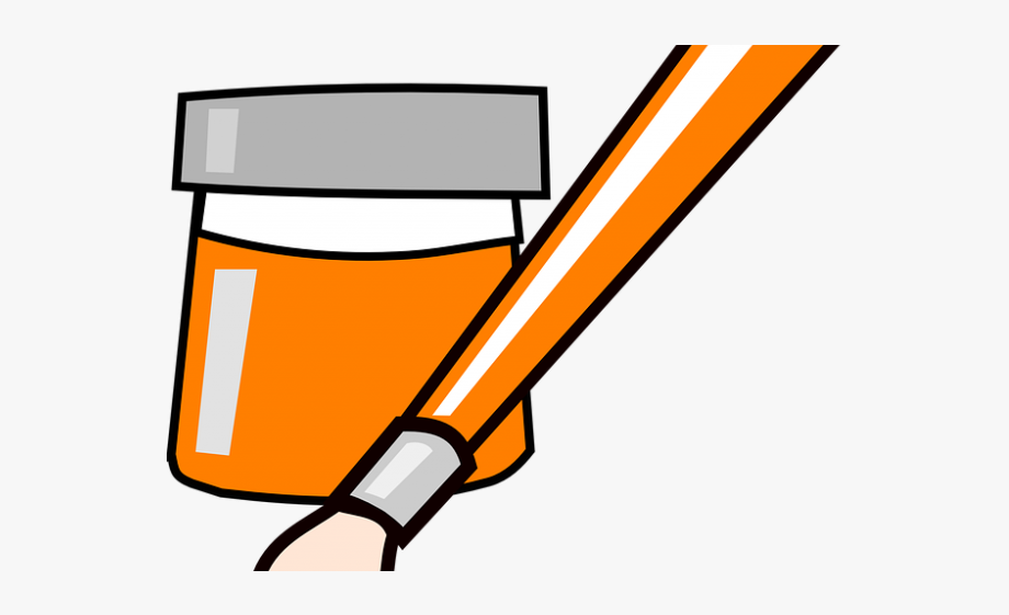 Paint Brush Clipart Paint Can.