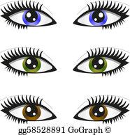 Pair Of Eyes Clip Art.