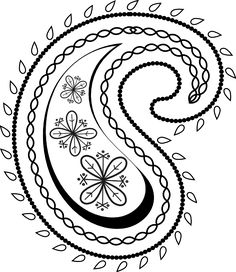 black and white paisley.