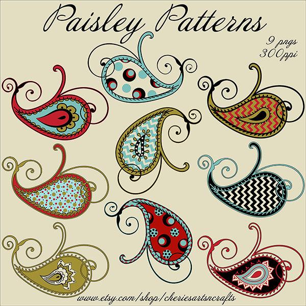 Paisley clipart.