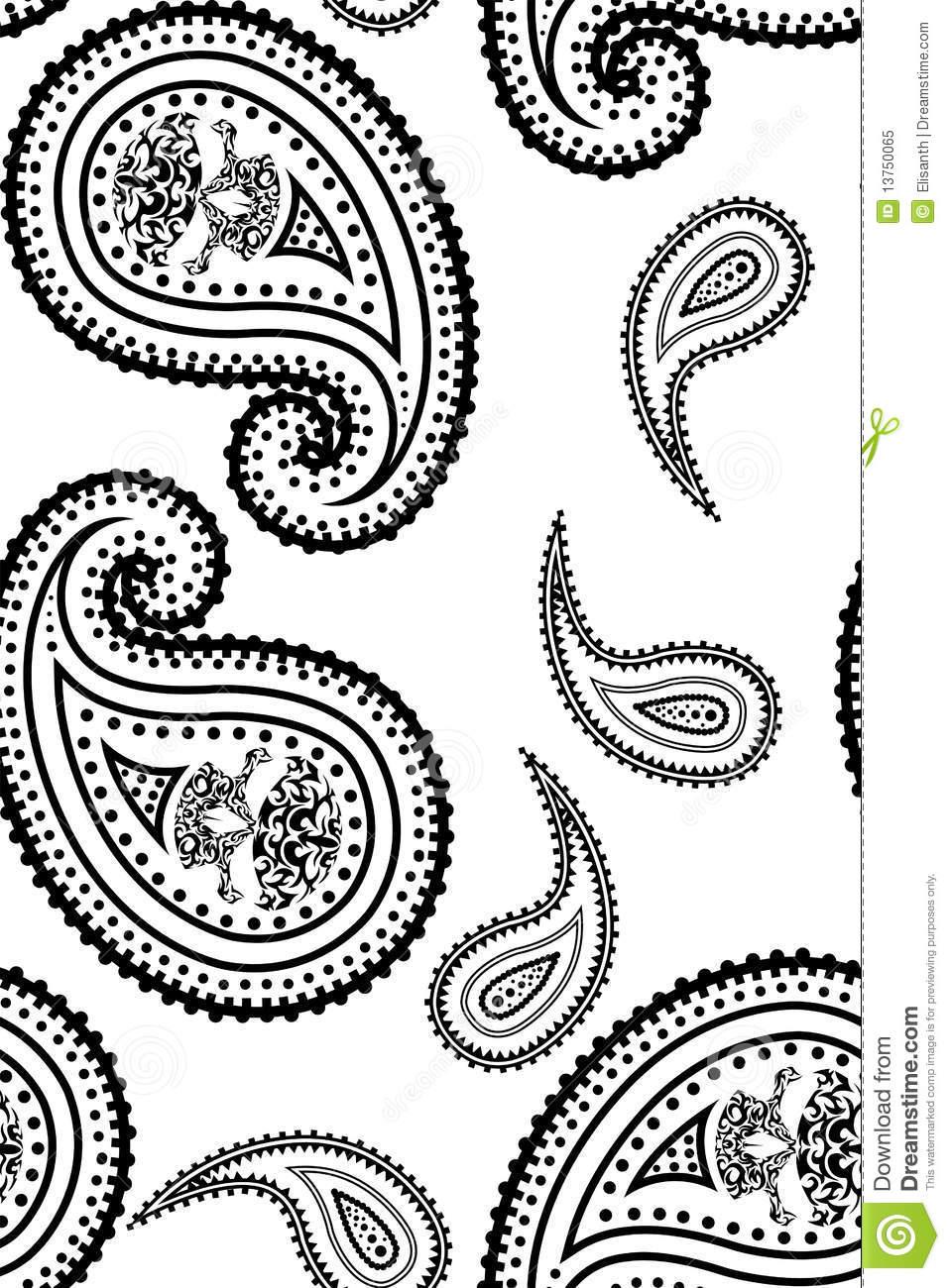 CLIP ART PAISLEY PATTERN - 233px Image #17