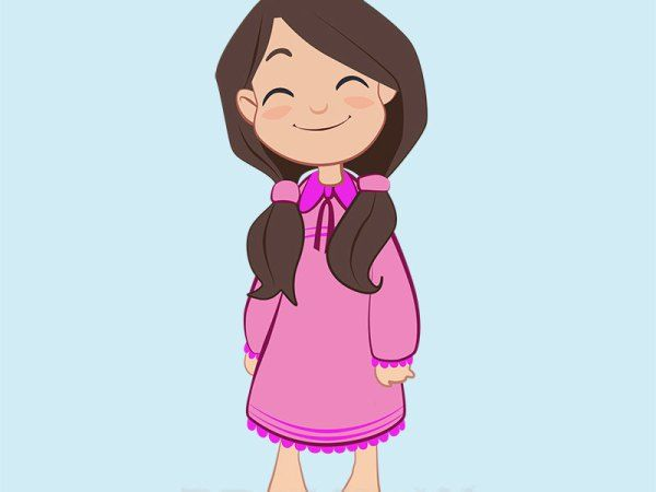 Pajama Girl Clipart, slumber party.
