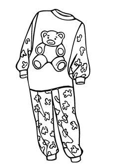 Put On Pajamas Clipart.