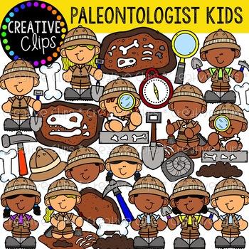 Paleontologist Kids {Creative Clips Clipart}.